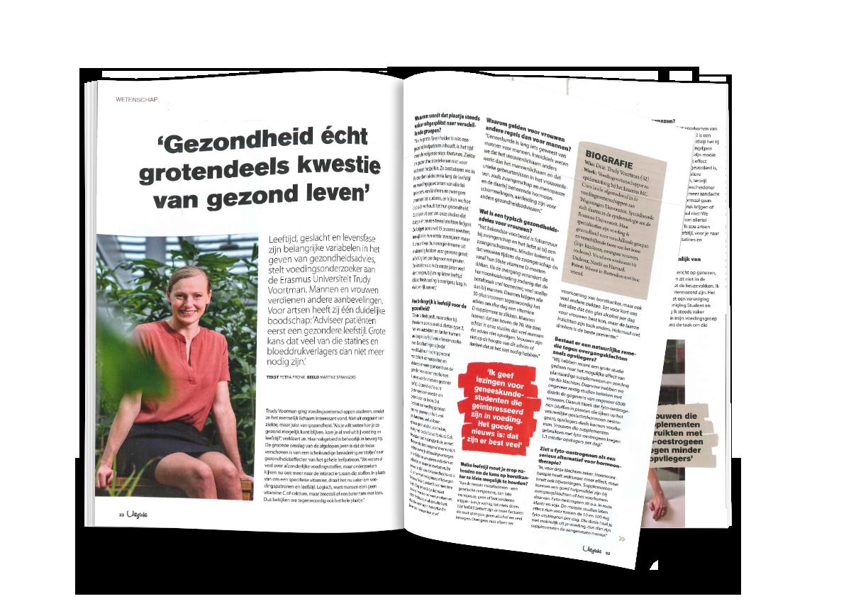 """Voedingsonderzoeker Trudy Voortman van de Erasmus Universiteit heeft een duidelijke boodschap voor artsen: """"Adviseer patiënten eerst een gezondere leefstijl. Grote kans dat veel van die statines en bloeddrukverlagers dan niet meer nodig zijn."""""""