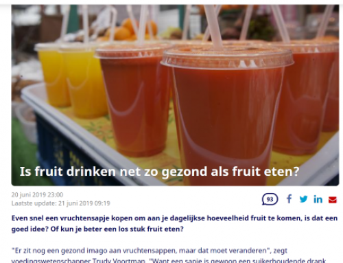 Fruit vs fruit juice at Nu.nl